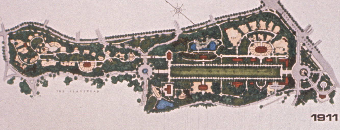 Original Plan - 1911 Frederick Law Olmstead