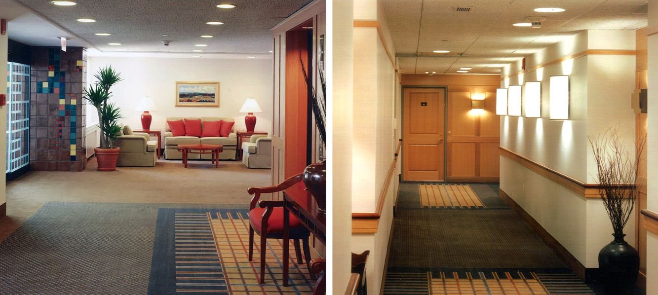 Left:  Residential Lobby   Right:  Residential Unit Entry