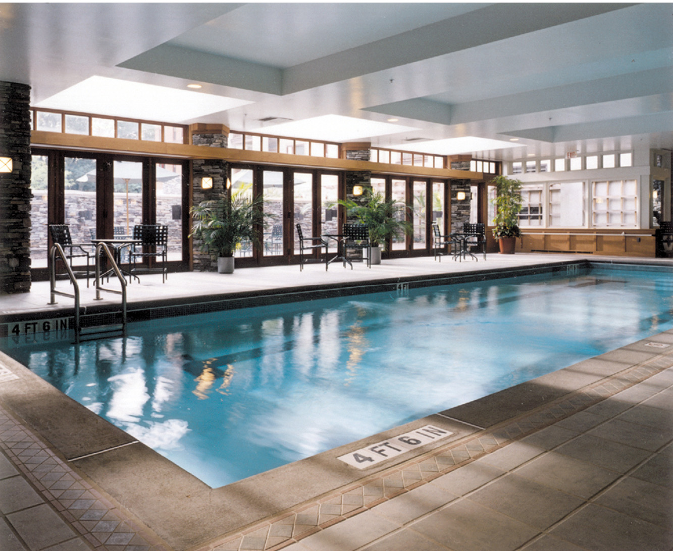 Lower level pool and terrace.